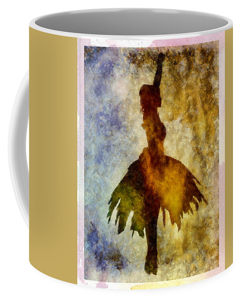 Ballet Coffee Mug featuring the mixed media Prima 2 With Border by Angelina Vick