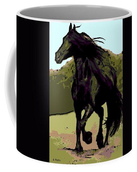 Prince Coffee Mug featuring the photograph Prince Of Equus by George Pedro