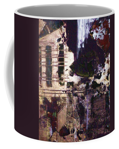 Abstract Coffee Mug featuring the painting Progress by Charlotte Nunn