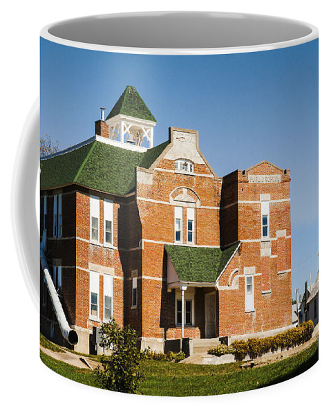 Rural School Coffee Mug featuring the photograph Progress by Edward Peterson