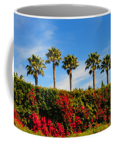 Pt Dume Coffee Mug featuring the photograph Pt. Dume Palms by Lynn Bauer