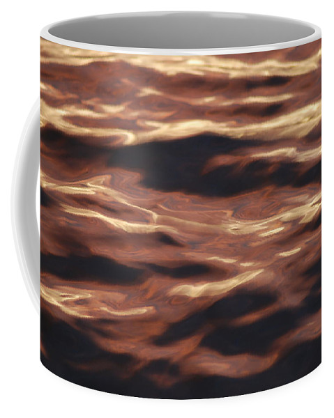Purple Coffee Mug featuring the photograph Purple Abstract Water by Michael Merry