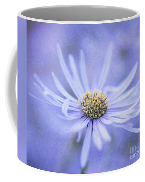 Flower Coffee Mug featuring the photograph Purple Aster Flower by Neil Overy
