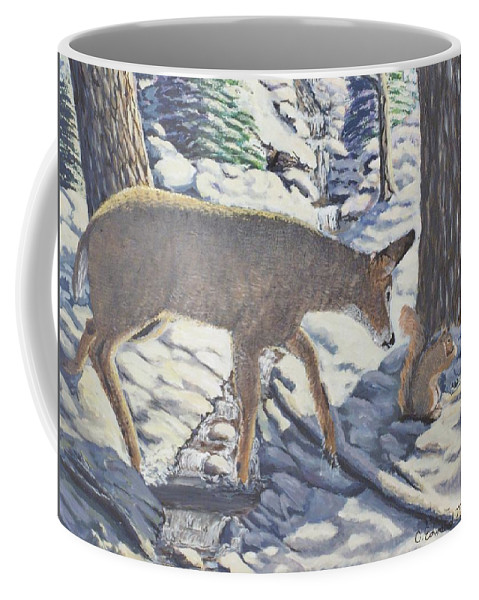 Winter Coffee Mug featuring the painting Purple In The Shadow by Carey MacDonald
