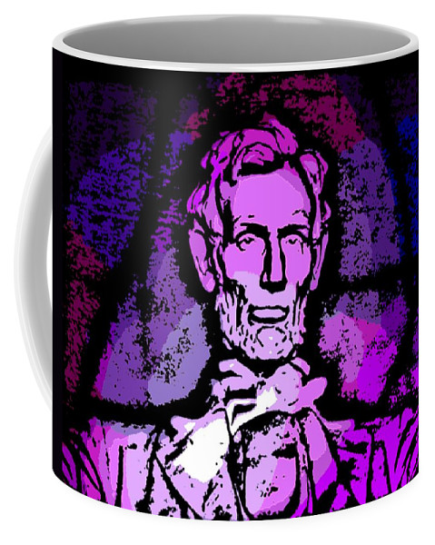 Abe Coffee Mug featuring the photograph Purple Lincoln by George Pedro