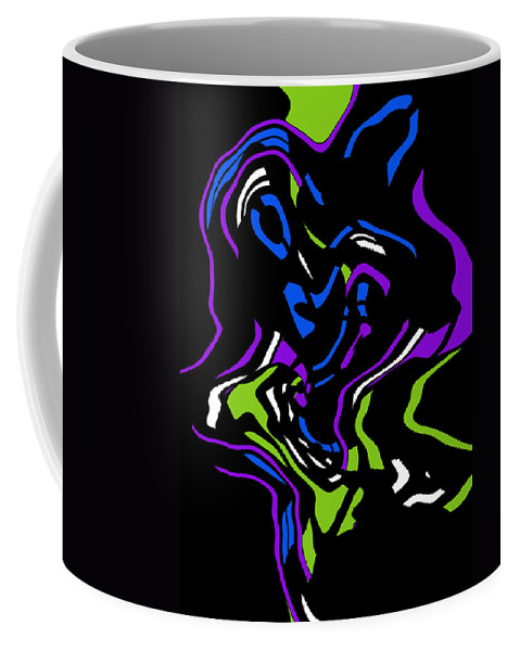 Color Colorful Abstract Expressionism Put Together Modern Art Coffee Mug featuring the digital art Put It Together by Steve K