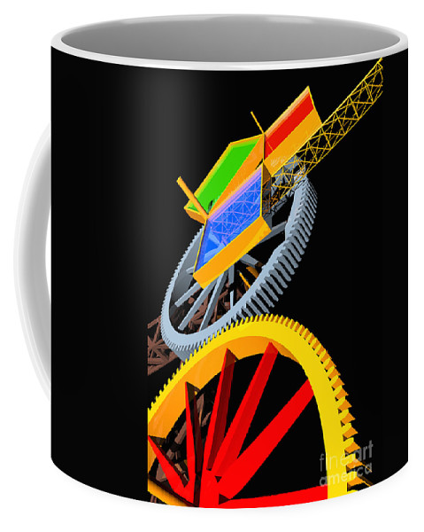 Algebra Coffee Mug featuring the digital art Pythagorean Machine Portrait 5 by Russell Kightley