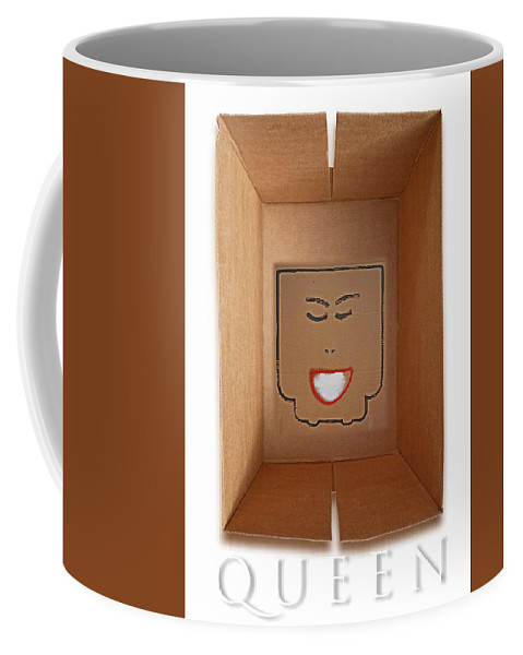 Queen Coffee Mug featuring the painting Queen by Charles Stuart