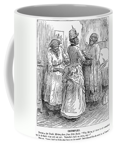 1886 Coffee Mug featuring the photograph Racial Caricature, 1886 by Granger