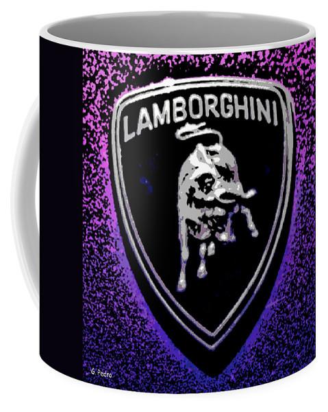 Lamborghini Coffee Mug featuring the photograph Raging Bull by George Pedro