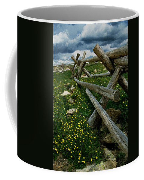Art Coffee Mug featuring the photograph Rail Fence No.1812 by Randall Nyhof