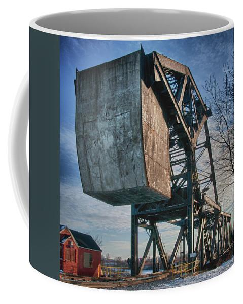 Bridges Coffee Mug featuring the photograph Railroad Bridge 10615c by Guy Whiteley