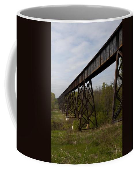 Railroad Coffee Mug featuring the photograph Railroad High Bridge 3 by John Brueske