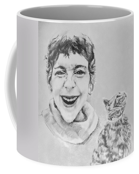 Portrait Coffee Mug featuring the drawing Randolph And Marmalade by Rory Sagner