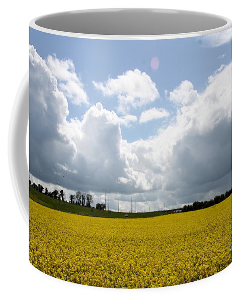 Rape Field Coffee Mug featuring the photograph Rape Field by Christiane Schulze Art And Photography