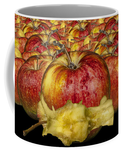 Art Coffee Mug featuring the photograph Red Apples And Core by Randall Nyhof