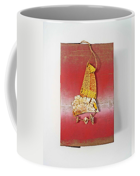 Sculpture Coffee Mug featuring the painting Red Box by Charles Stuart