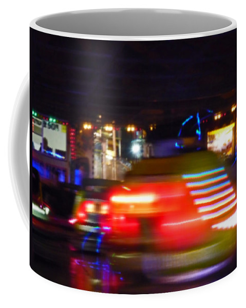 Red Coffee Mug featuring the digital art Red Dodgem by Charles Stuart