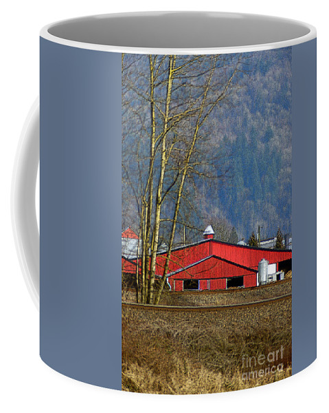 Barns Coffee Mug featuring the photograph Red Matsqui Barn by Randy Harris