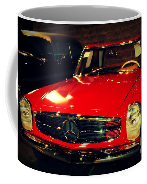 Mercedes Coffee Mug featuring the photograph Red Mercedes Sl by Susanne Van Hulst