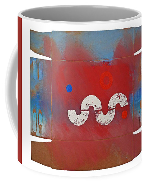 Snake Coffee Mug featuring the painting Red River Valley by Charles Stuart