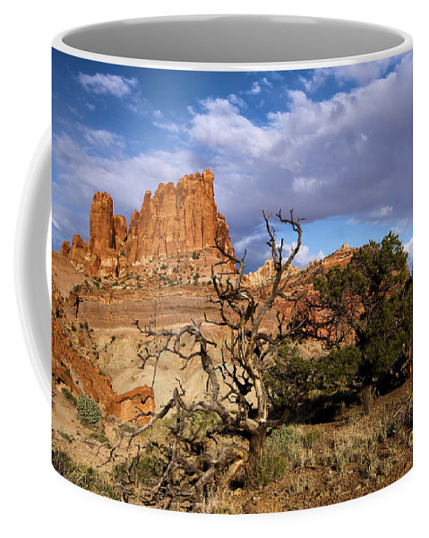 Red Rock Castle Coffee Mug featuring the photograph Red Rock Castle by Adam Jewell