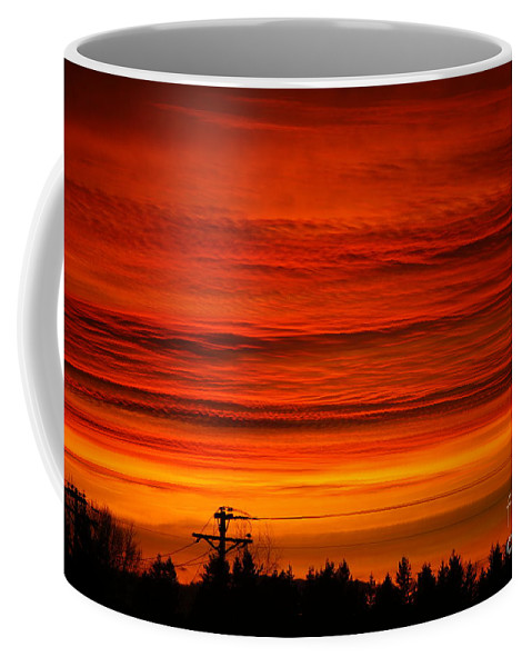 Storms Coffee Mug featuring the photograph Red Skies At Night by Randy Harris