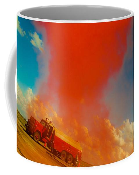 Car Show Coffee Mug featuring the photograph Red Smoke by Toni Hopper