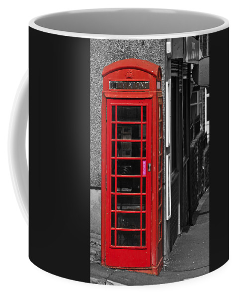 Red Telephone Box Coffee Mug featuring the photograph Red Telephone Box by Steve Purnell