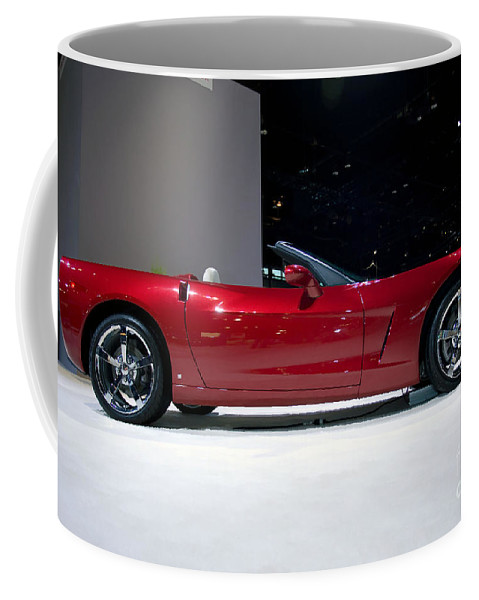 Automotive Coffee Mug featuring the photograph Red Vette by Alan Look