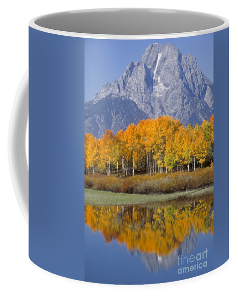 Bronstein Coffee Mug featuring the photograph Reflection At Oxbow Bend by Sandra Bronstein