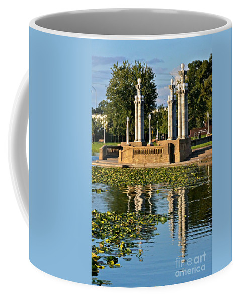 Lake Coffee Mug featuring the photograph Reflections At Lake Mirror by Carol Bradley