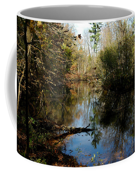 Usa Coffee Mug featuring the photograph Reflective River Thoughts by LeeAnn McLaneGoetz McLaneGoetzStudioLLCcom