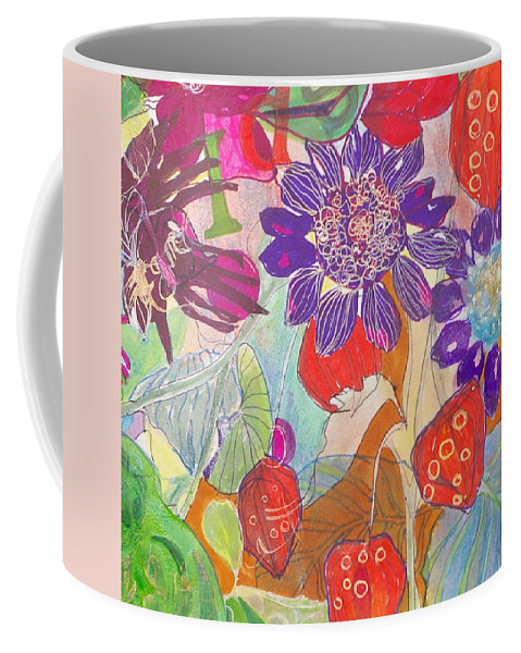 Gardens Coffee Mug featuring the mixed media Refreshment IIi by Claudia Smaletz