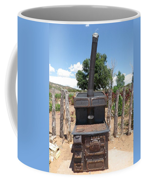 Wood Burning Stove Coffee Mug featuring the photograph Retired Wood Burning Stove by Jonathan Barnes