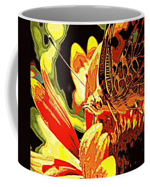Nature Coffee Mug featuring the photograph Retro Butterfly by Chris Berry