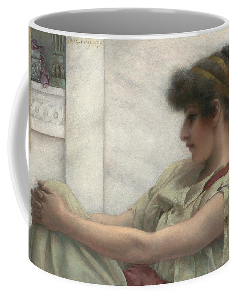Reverie Coffee Mug featuring the painting Reverie by John William Godward