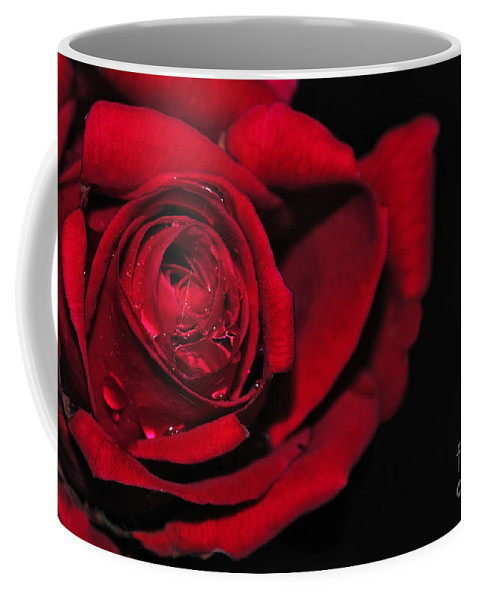 Photography Coffee Mug featuring the photograph Rich Red Rose by Kaye Menner