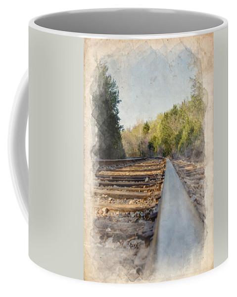 Angle Coffee Mug featuring the photograph Riding The Rail II by Ricky Barnard