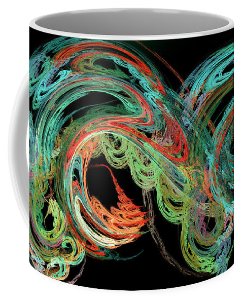 3d Coffee Mug featuring the digital art Riding The Rainbow by Andee Design