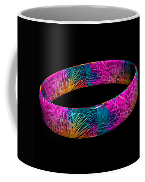 Marabou Feather Coffee Mug featuring the photograph Ring Of Feathers 3d by Steve Purnell