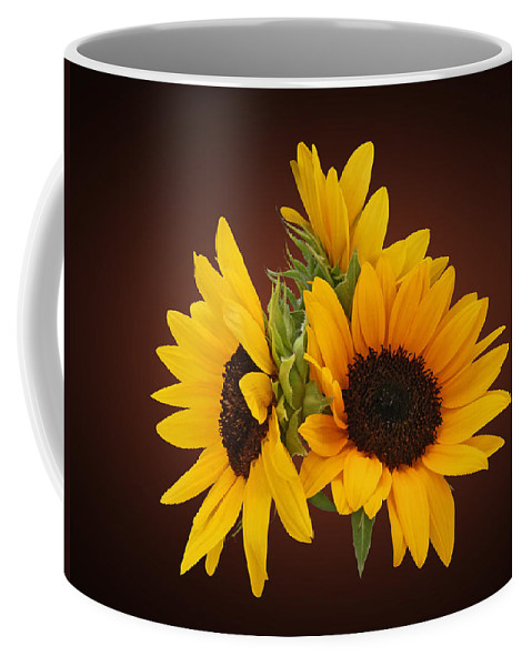 Sunflower Coffee Mug featuring the photograph Ring Of Sunflowers by Susan Savad