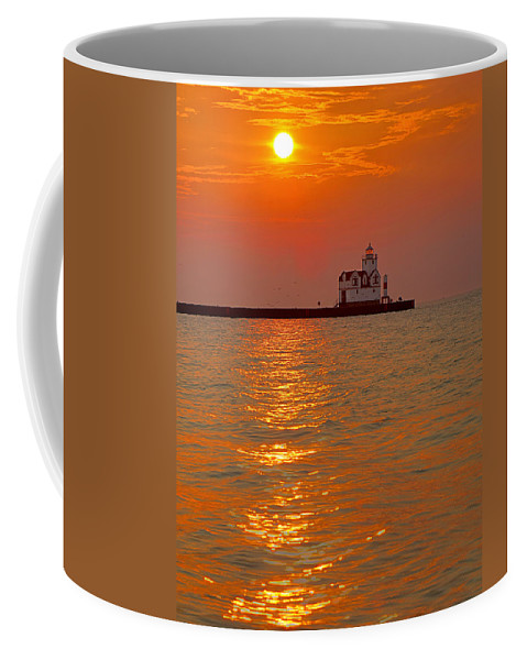 Lighthouse Coffee Mug featuring the photograph Rising Above by Bill Pevlor