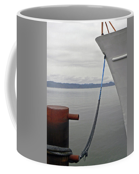 River Coffee Mug featuring the photograph River Mooring by Pamela Patch