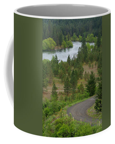 River Coffee Mug featuring the photograph River Road by Ben Upham III