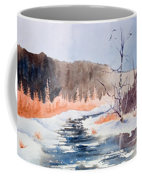 Coffee Mug featuring the painting River Valley by Mohamed Hirji