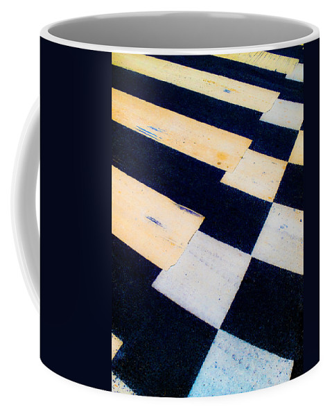 Road Coffee Mug featuring the photograph Road Markings by Hakon Soreide