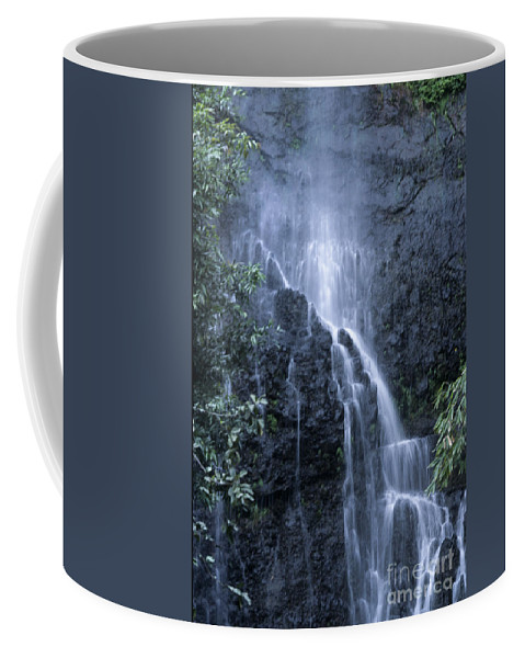 Waterfall Coffee Mug featuring the photograph Road To Hana Waterfall by Sandra Bronstein