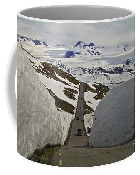 Europe Coffee Mug featuring the photograph Road To Nowhere by Heiko Koehrer-Wagner