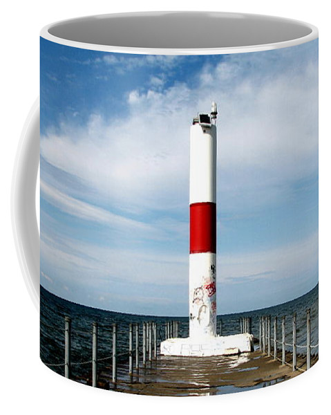 Rochester Coffee Mug featuring the photograph Rochester New York Harbor Lighthouse by Rose Santuci-Sofranko